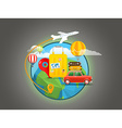 Vacation travelling concept travel Travel vector image
