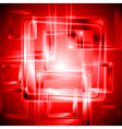 Vibrant red tech design vector image vector image