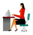 working businesswoman vector image vector image