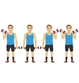 Young man doing dumbbell exercises vector image vector image