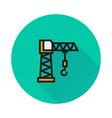 building crane icon on round background vector image