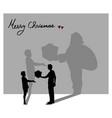 everyone can be santa claus in christmas vector image