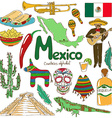 Collection of Mexico icons vector image