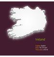 3d map of Ireland vector image