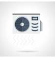 Air conditioner flat color icon vector image vector image