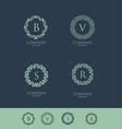 Alphabet letter monogram set vector image