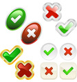 approved and rejected icons vector image