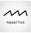 aquarius zodiac sign flat astrology on isolated vector image vector image
