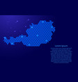 austria map abstract schematic from blue vector image vector image