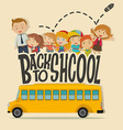 Back to school theme with teacher and pupils vector image