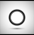 bicycle tire bicycle accessories icon vector image vector image