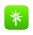 big palm tree icon digital green vector image vector image