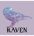 bird raven zentangle style Good for T-shirt bag vector image