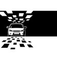 black and white car silhouette with copy space vector image vector image