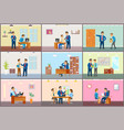 boss working in office dismissal and interview vector image vector image