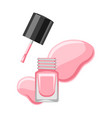 bottle with nail polish vector image