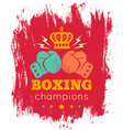 boxing blood red vector image vector image
