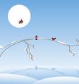 bullfinch on a tree vector image
