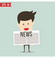 Business man show news board - - EPS10 vector image
