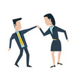 businessman and woman colleagues avatar icon image vector image vector image