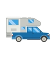 Camping truck car vector image