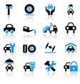 car service icons vector image vector image