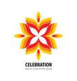 celebration festival concept logo design abstract vector image