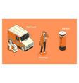 character postman postman vector image vector image