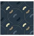 circles and diagonal lines seamless pattern vector image