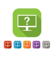 Color set of flat computer assistance icon vector image