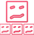 Crimson line confusion logo design set vector image vector image