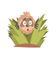 cute cartoon astonished sloth character looking vector image vector image