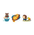cute funny animals characters in different actions vector image vector image