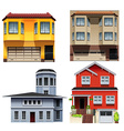 Different building designs vector image vector image
