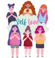 diverse women girls portrait cartoon character vector image vector image