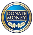 Donate Money Blue Label vector image vector image