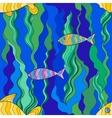 Fish seamless vector image vector image