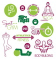 fitnes icon resize vector image