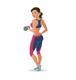 fitness woman doing an exercise with a dumbbell vector image