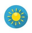 Flat Design Concept Sun Icon With Long Shado vector image