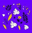 floral ornament - modern flat design style vector image vector image