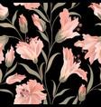flower seamless pattern floral garden background vector image vector image
