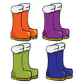 four pair of boots vector image vector image