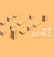 free shipping and delivery on time logistics web vector image vector image