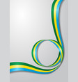 gabon flag wavy background vector image vector image