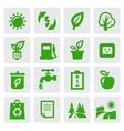 green eco symbols vector image vector image