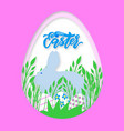 happy easter greeting card template with easter vector image vector image