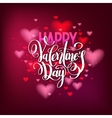happy valentines day handwritten lettering holiday vector image vector image