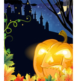 Jack O Lantern with glowing eyes vector image vector image