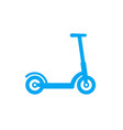 kick scooter icon isolated on white vector image vector image